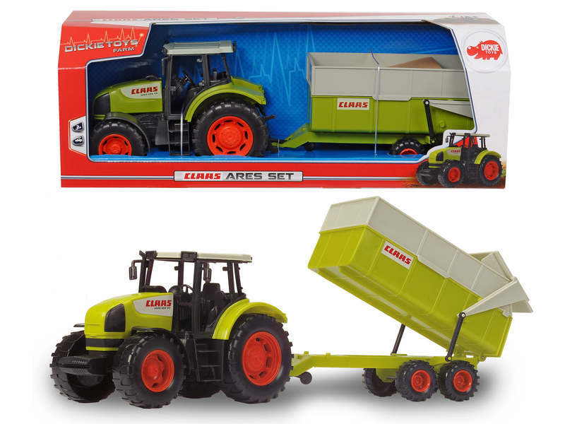 dickie toys 203739000 claas ares 836 rz set traktor. Black Bedroom Furniture Sets. Home Design Ideas