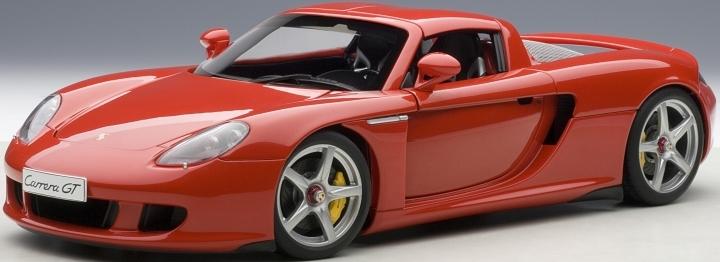 Neu Autoart 78044-1//18 Porsche Carrera Gt Red