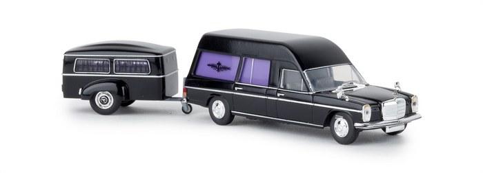Mercedes-Benz MB //8 Bestattungswagen mit Anh/änger Brekina 13825 H0 Auto Modell 1:87