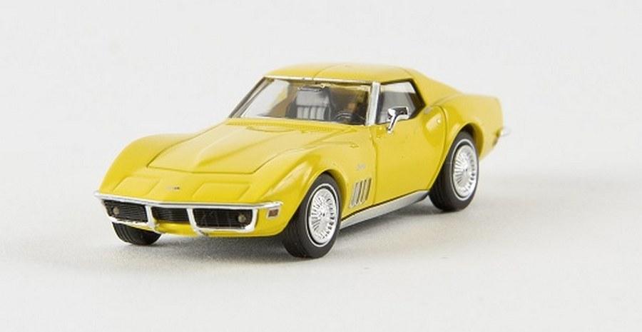 gelb Fertigmodell C3 Brekina 1:87 Modellauto Chevrolet Corvette