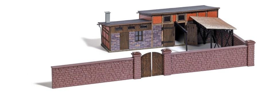 Details Zu Busch 1531 1 87 H0 Hinterhof Gebaude Neu