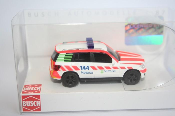 Busch 49767-1//87 Notarzt H0 Mercedes-Benz Glk-Klasse Neu