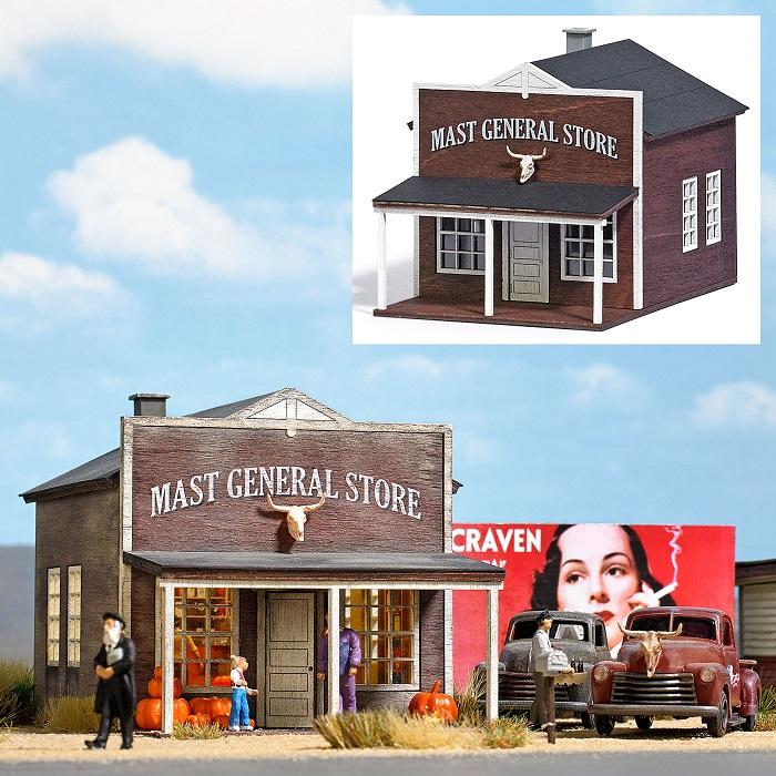 Neu Busch 9725-1//87 Mast General Store H0 US Warenhaus