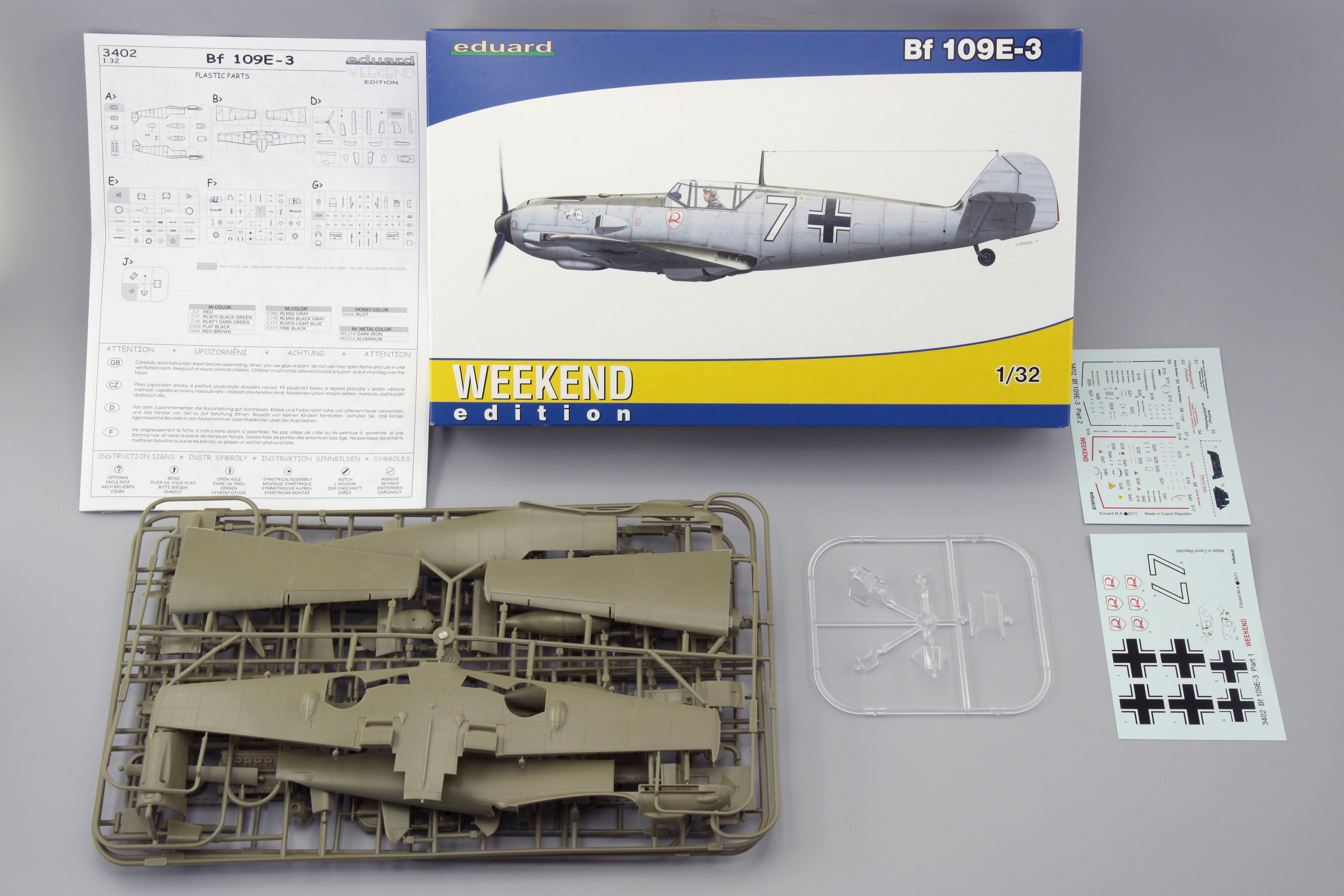 Eduard Accessories Fe205-1:48 Bf-109 E3 Ätzsatz Neu