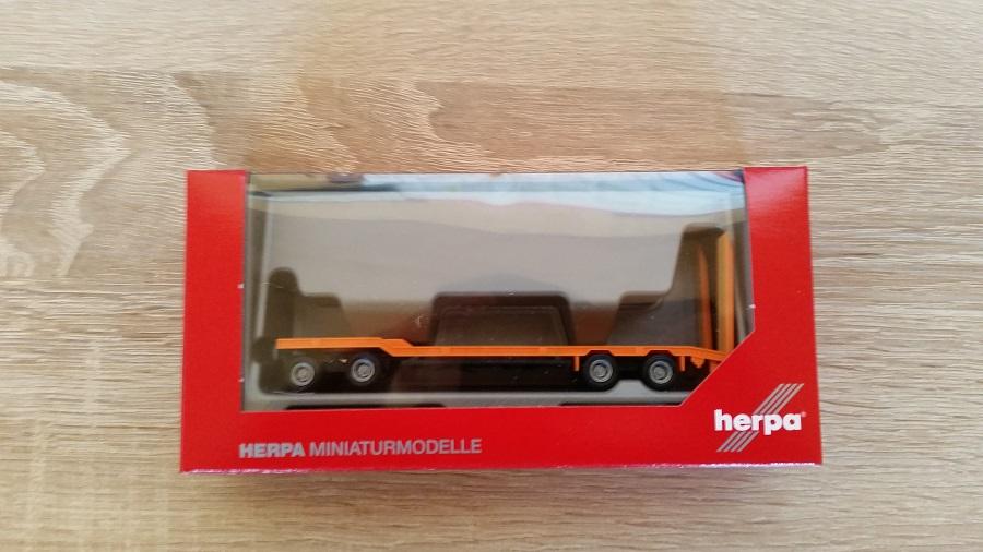 Herpa 076142-006 Goldhofer TU 4 Anhänger hellrotorange 1:87 Neu