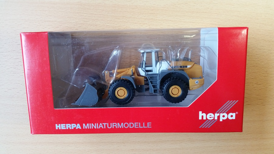 NEU /& OVP Herpa 148122-001 H0 Liebherr Radlader L580 1:87
