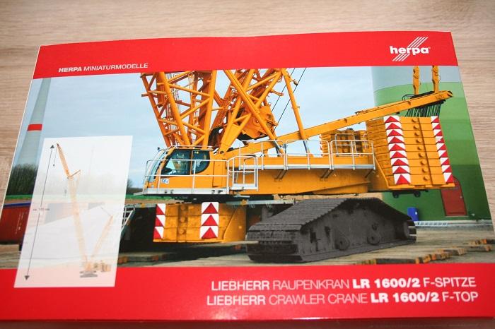 amarillo-nuevo Herpa 307673-1//87 F-punta para Liebherr raupenkran LR 1600//2