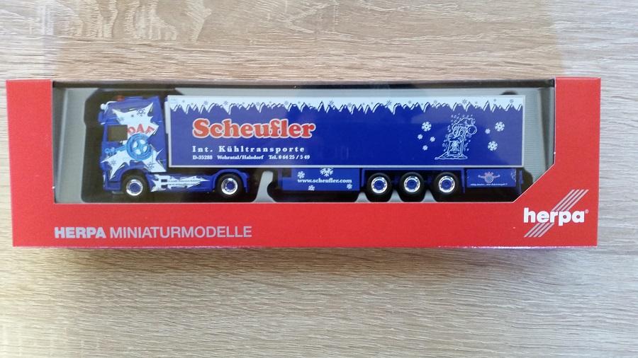 Herpa 308892 - 1 87 DAF XF SSC Euro 6 Kühlkoffer-semi-remorque  Scheufler  - NEUF