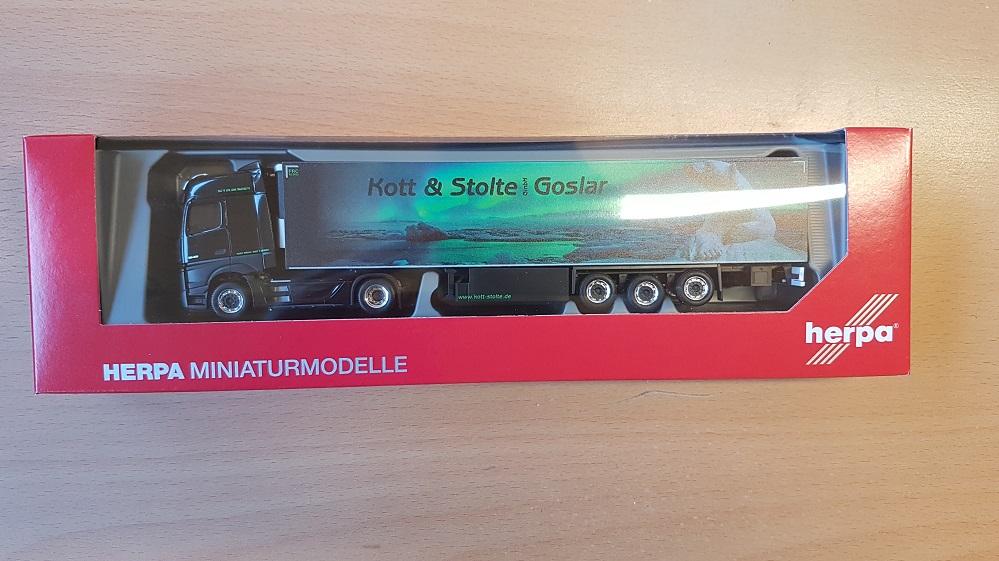 Herpa camiones MB actros 11 bigspace refrigeración-ksz Kott /& Stolte Goslar 311762