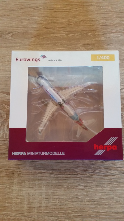 Herpa 562676 - 1 400 Eurowings Europe Airbus A320  Eurowings Holidays  - Neu  | Kompletter Spezifikationsbereich