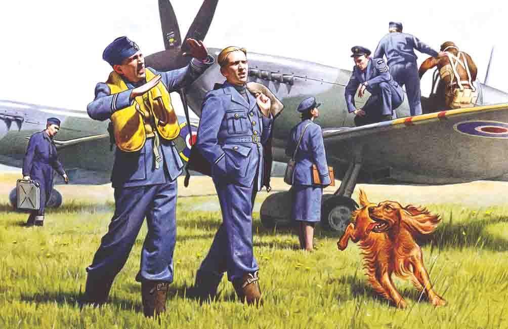 ICM 48081 RAF Plioten und Bodenpersonal in 1:48