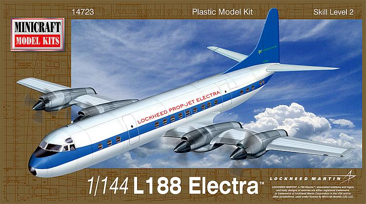 Minicraft 14723 - 1 144 L-188 Electra Demonstrator - Neu