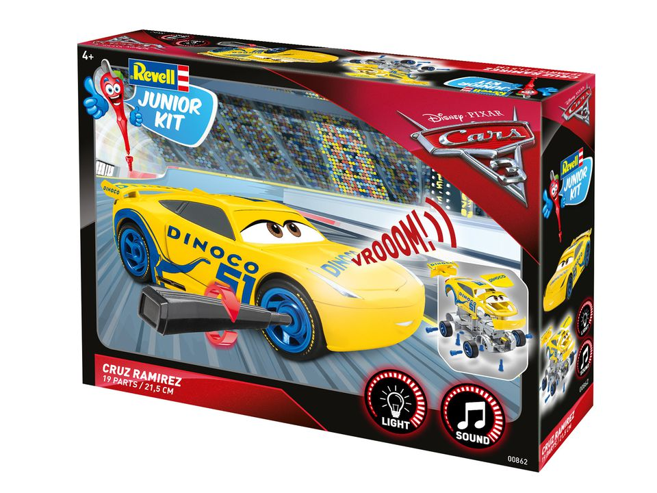 Revell 00862 Junior Kit 1:20 Cars 3 Cruz Ramirez  Licht+Sound NEU OVP