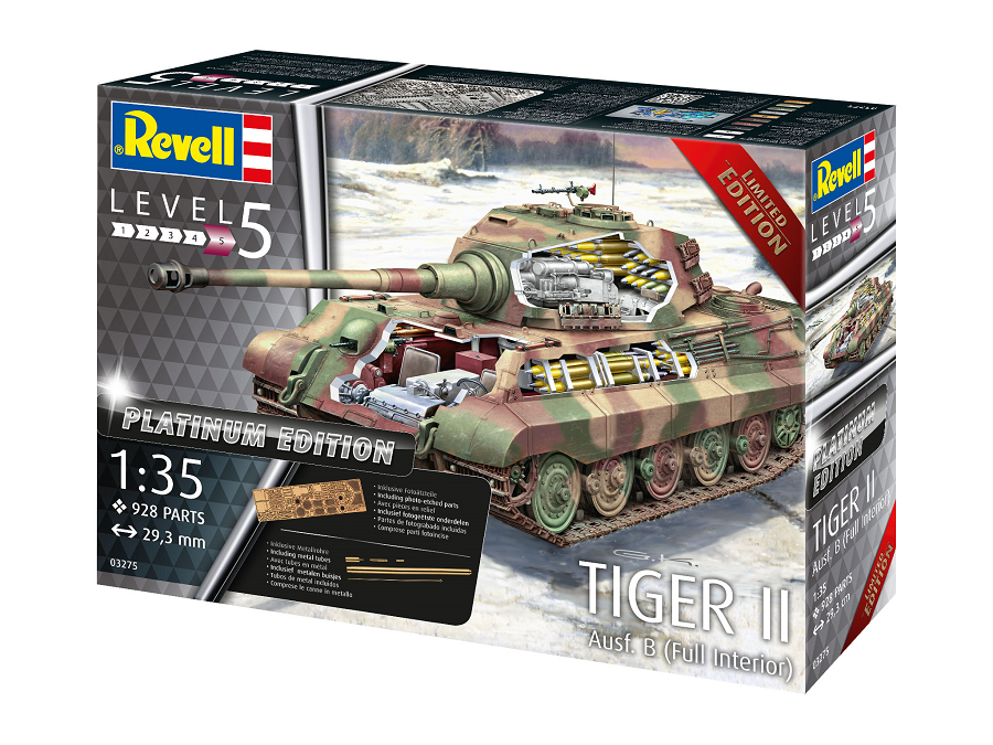 Revell 03275-1//35 Dt Tiger II Königstiger Ausf B Henschel - Platinum Ed.