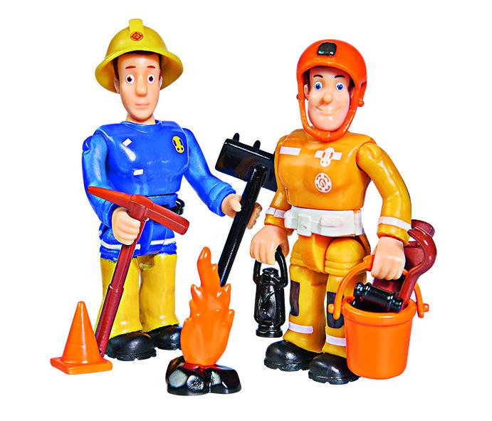Figurenset Sam /& Arnold Simba 109251026 Neu Feuerwehrmann Sam