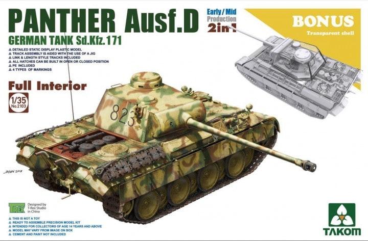 Takom TAK2103 - 1 35 WWII German medium Tank Sd.Kfz.171 Panth Ausf.D Early Mid p    Diversified In Packaging