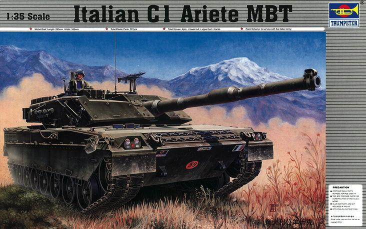 Trumpeter 00332-1:35 Italienischer Panzer C-1 Ariete Neu