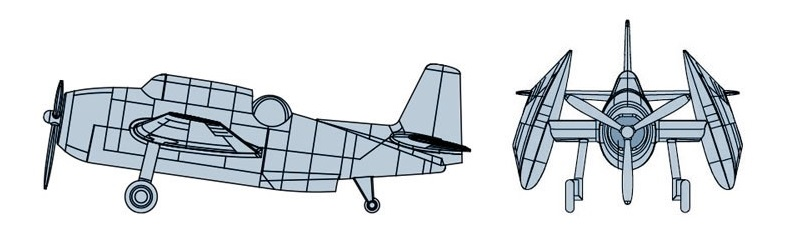 Pre-Painted TRUMPETER® 06408 TBF Avenger in 1:350