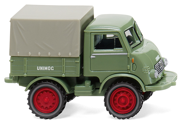 Wiking 36802 Unimog U 401 verde claro